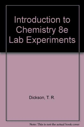 9780471363194: Laboratory Experiments to Introduction to Chemistry