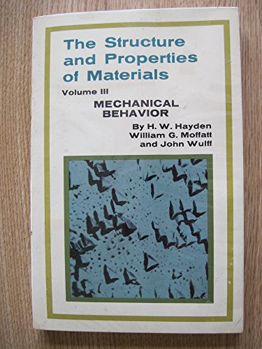 Structure and Properties of Materials: Mechanical Behaviour