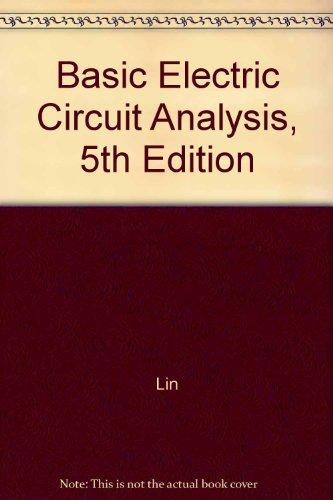 9780471365877: Basic Elec Circ Anal 5e STD Prob Sol