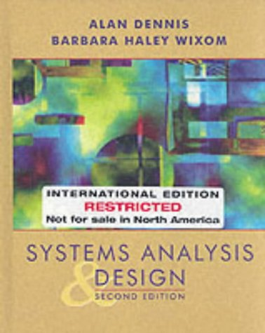 9780471368151: Systems Analysis and Design