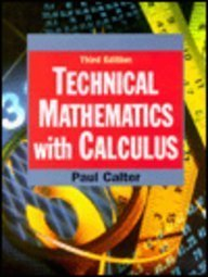 9780471368847: Technical Mathematics with Calculus, 3rd Edition