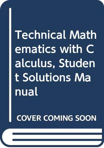 9780471369080: Technical Mathematics with Calculus, 3rd Edition