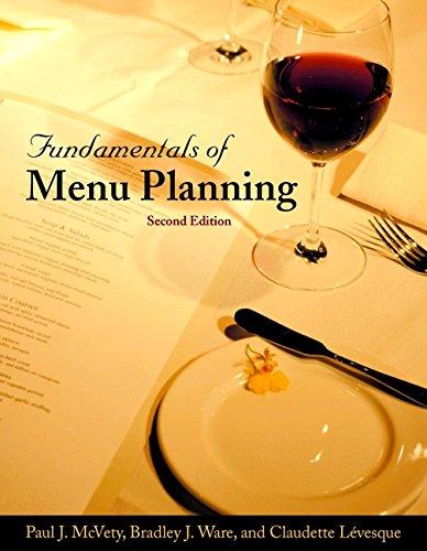 9780471369479: Fundamentals of Menu Planning