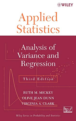 9780471370383: Applied Statistics: Analysis of Variance and Regression