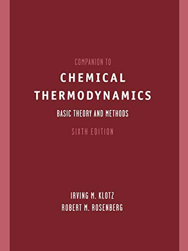 9780471372202: Companion to Chemical Thermodynamics