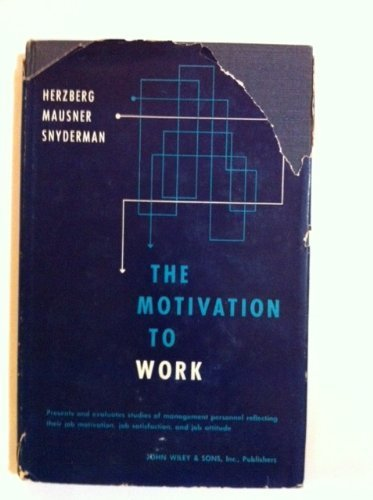 9780471373896: The Motivation to Work