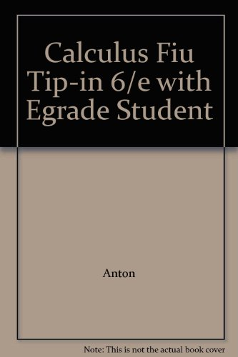 9780471375340: Calculus Fiu Tip-in 6/e with Egrade Student