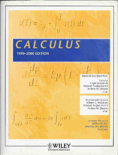 9780471375500: (Wcs)Calculus 2e & Multivariable Ucsd
