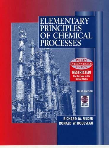 9780471375876: Elementary Principles of Chemical Processes, 3rd Edition