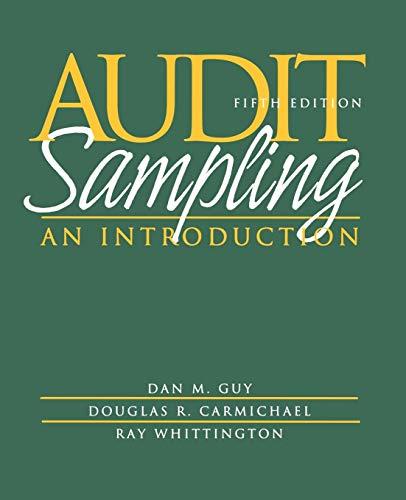 9780471375906: Audit Sampling: An Introduction (Accounting)