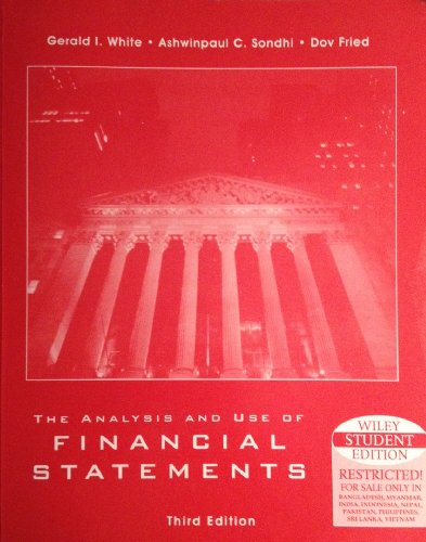 9780471375937: Solutions Manual to Accompany The Analysis and Use of Financial Statements, Third Edition