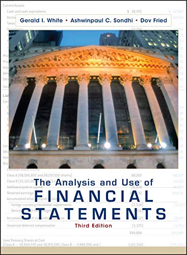 9780471375944: The Analysis and Use of Financial Statements