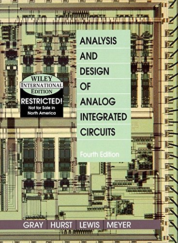 9780471377528: Analysis and Design of Analog Integrated Circuits