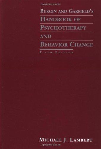 9780471377559: Bergin and Garfield's Handbook of Psychotherapy and Behavior Change