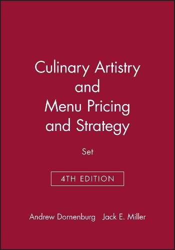 9780471378044: Culinary Artistry & Menu: Pricing and Strategy, 4e Set