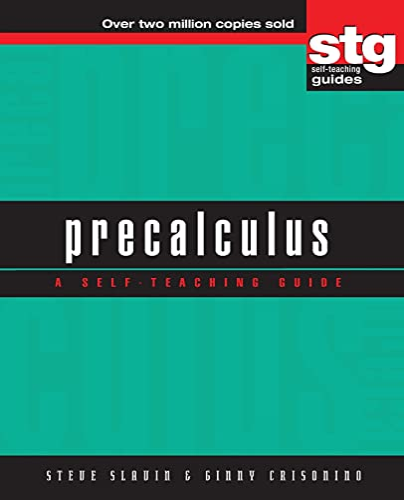 9780471378235: Precalculus: A Self-Teaching Guide (Wiley Self-Teaching Guides)