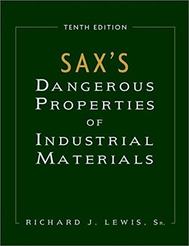 9780471378587: Sax's Dangerous Properties of Industrial Materials