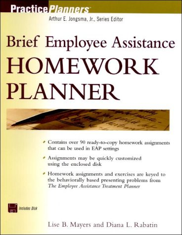 9780471380887: Brief Employee Assistance Homework Planner [With Disk] (PracticePlanners)