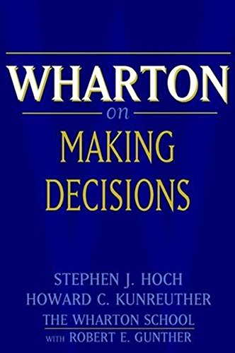 9780471382478: Wharton on Making Decisions