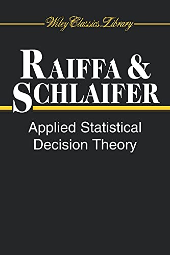 9780471383499: Applied Statistical Decision Theory