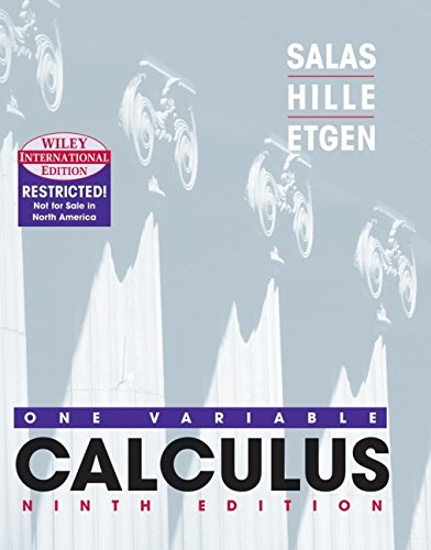 9780471383581: Calculus: One Variable