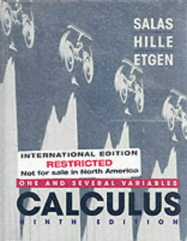 9780471383758: Calculus: One and Several Variables