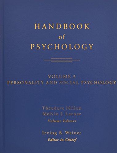 9780471384045: Handbook of Psychology, Personality and Social Psychology (Volume 5)