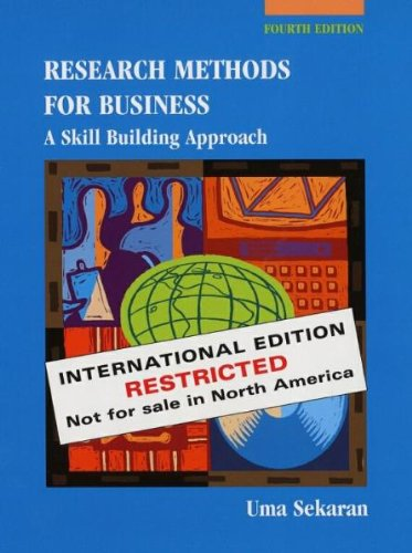 9780471384489: Research Methods for Business: A Skill Building Approach