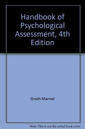 Handbook of Psychological Assessment, 4th Edition [Jan