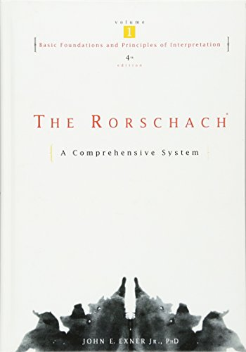 9780471386728: The Rorschach: Basic Foundations and Principles of Interpretation v. 1: A Comprehensive System (Wiley Series on Personality Processes)