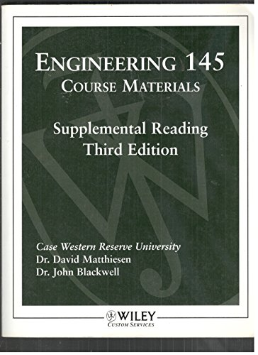 Wcs)Engineering 145 Course Materials 3e: Wiley