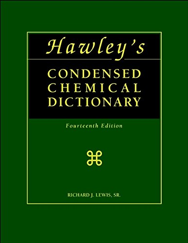 9780471387350: Hawley's Condensed Chemical Dictionary (14th Edition)
