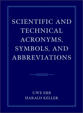 9780471388029: Scientific and Technical Acronyms, Symbols and Abbreviations