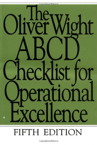 9780471388197: The Oliver Wight ABCD Checklist for Operational Excellence