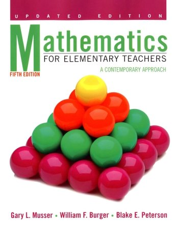 9780471388982: Mathematics for Elementary Teachers: A Contemporary Approach, 5th Edition Update
