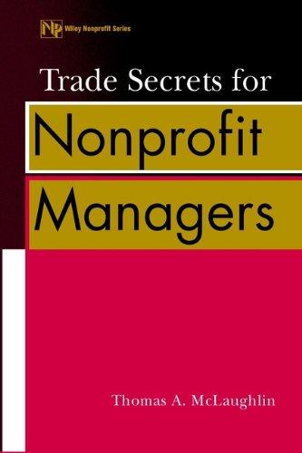 Trade Secrets for Nonprofit Managers: McLaughlin, Thomas A.