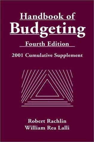 9780471390480: Handbook of Budgeting: 2001 Cumulative Supplement to 4r.e. (Handbook of Budgeting Supplement)