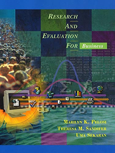9780471390886: Research and Evaluation for Business