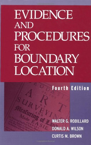 9780471390916: Evidence and Procedures for Boundary Location
