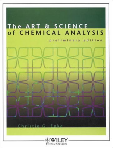 9780471391371: The Art and Science of Chemical Analysis