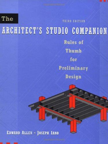 9780471392354: The Architect′s Studio Companion: Rules of Thumb for Preliminary Design