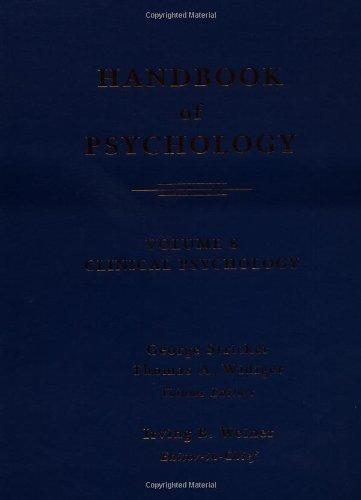 9780471392637: Handbook of Psychology, Clinical Psychology (Volume 8)
