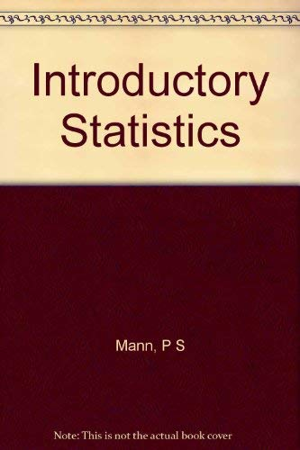 9780471395119: Introductory Statistics