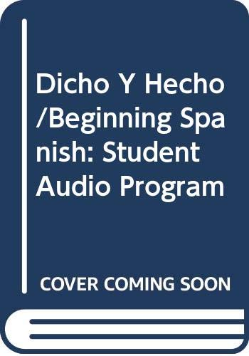 9780471395188: Dicho Y Hecho/Beginning Spanish: Student Audio Program (Spanish Edition)