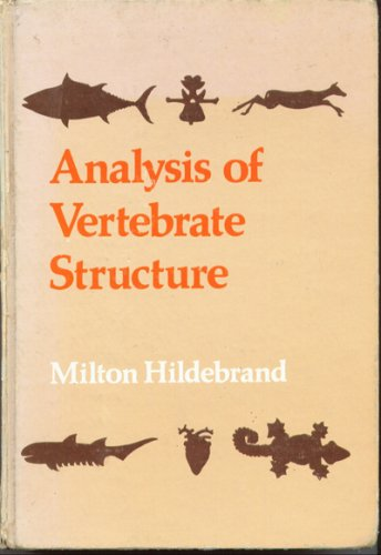 9780471395805: Analysis of Vertebrate Structure