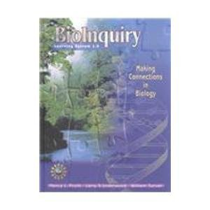 9780471395904: Bioinquiry: Making Connections in Biology, Learning System 1.0