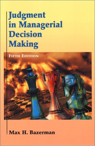9780471398875: Judgment in Managerial Decision Making (5th Edition)