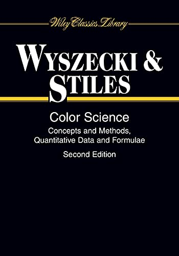 9780471399186: Color Science: Concepts and Methods, Quantitative Data and Formulae