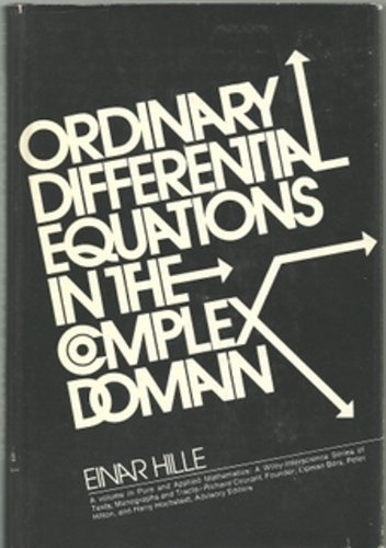 9780471399643: Ordinary Differential Equations in the Complex Domain