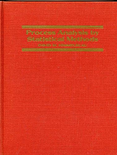 Process Analysis By Statistical Methods: Himmelblau, David M.